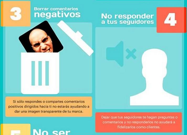 Errores recurrentes en Redes Sociales (Infografía)