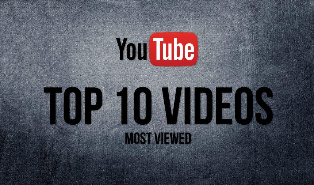 TOP 10 de los Vídeos más vistos en YouTube en este año.